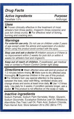 Defense Antifungal Medicated Bar Soap Instructions