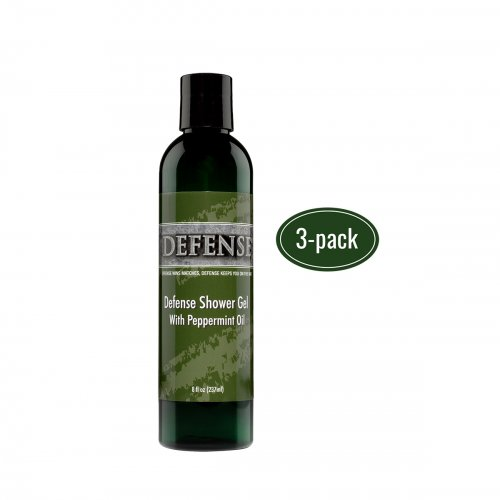Defense Peppermint Shower Gel 3 Pack